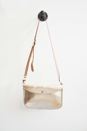 Dime & Regal Metallic Leather Purse - Front cropped