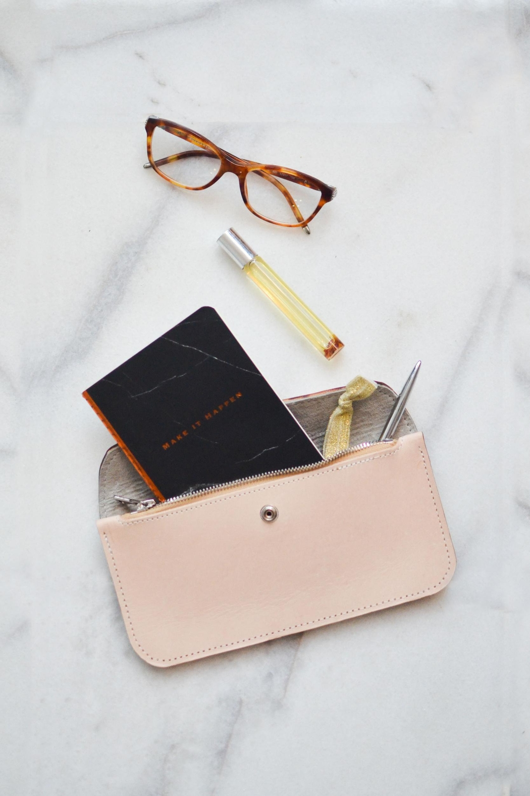 Dime & Regal Natural-Tan Leather Clutch - Main Image