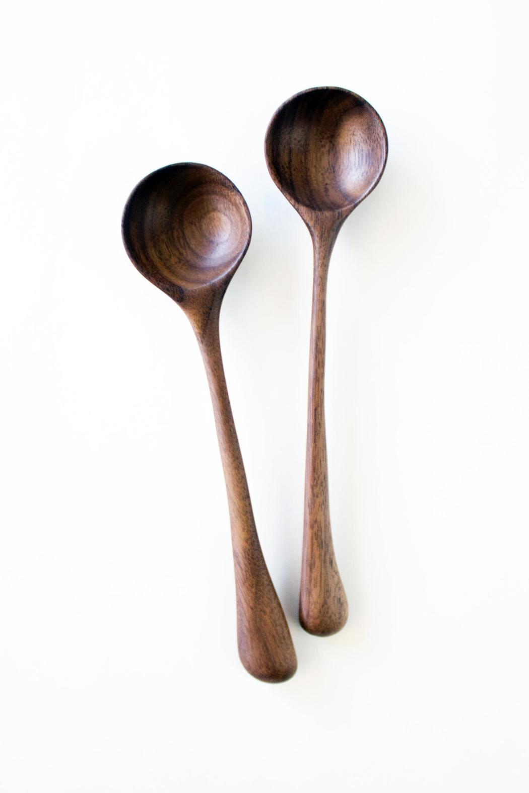 Dime & Regal Walnut Wooden Spoon - Front Cropped Image