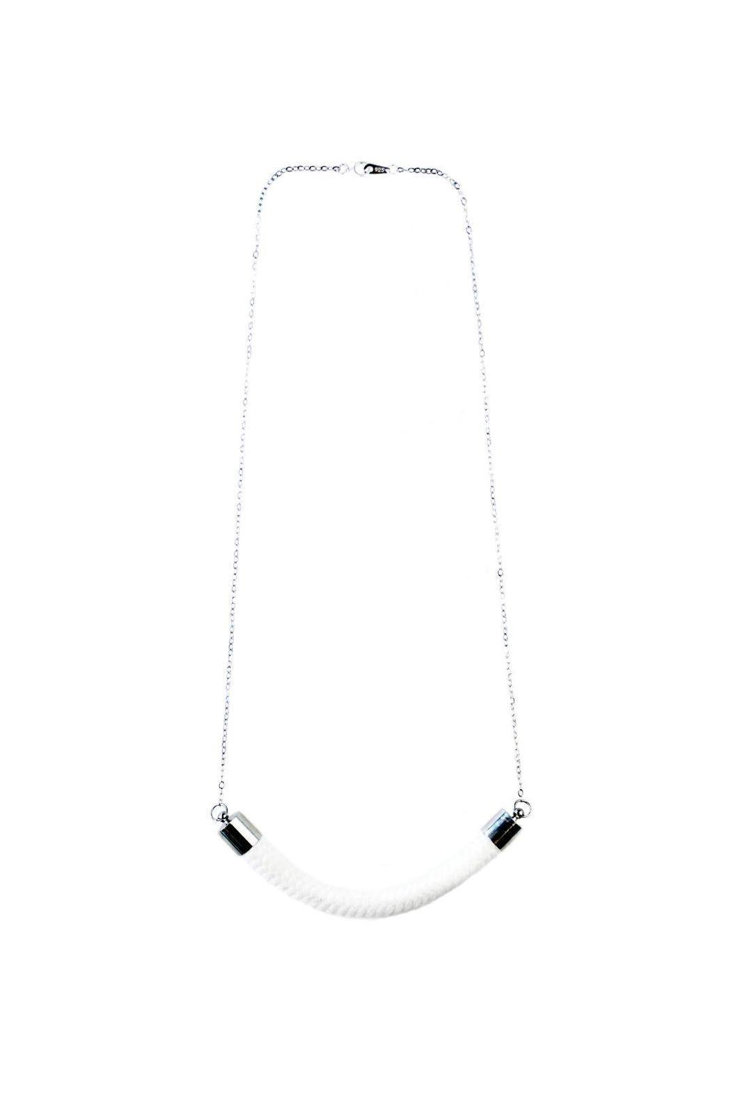 Dime & Regal White Rope Necklace - Main Image
