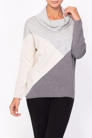 Alison Sheri  Dimensional Cowl Neck Sweater - Product Mini Image