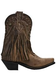 Dingo Hanglow Fringe Boots - Front full body