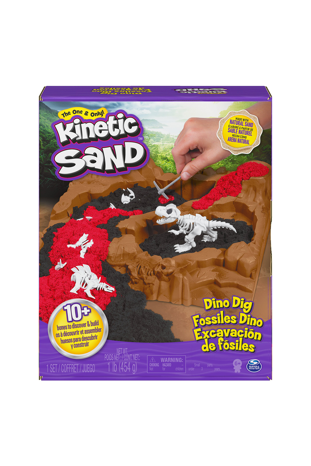 Kinetic Sand Dino Dig Playset - Front Cropped Image