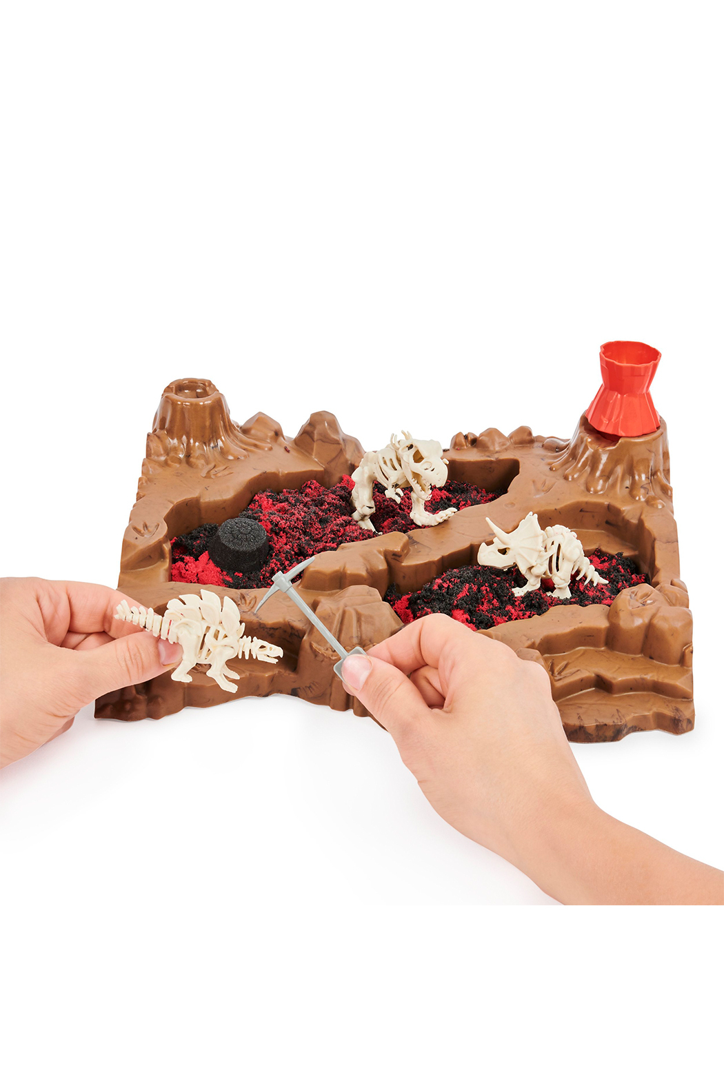 Kinetic Sand Dino Dig Playset - Front Full Image