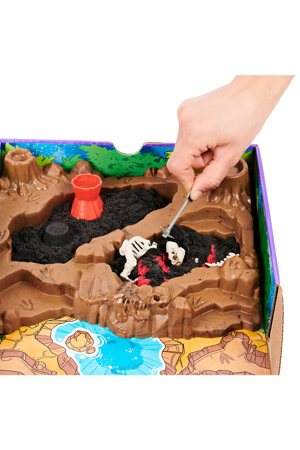Kinetic Sand Dino Dig Playset - Back Cropped Image