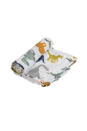 Little Unicorn Dino Friends Swaddle - Front cropped