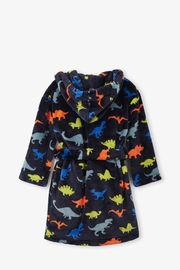 Hatley Dino Herd Fleece Robe - Front full body