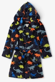 Hatley Dino Herd Fleece Robe - Front cropped