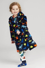 Hatley Dino Herd Fleece Robe - Side cropped