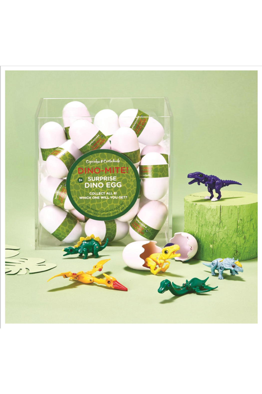 Cupcakes and Cartwheels Dino Mite Surprise Dino Egg - Front Full Image