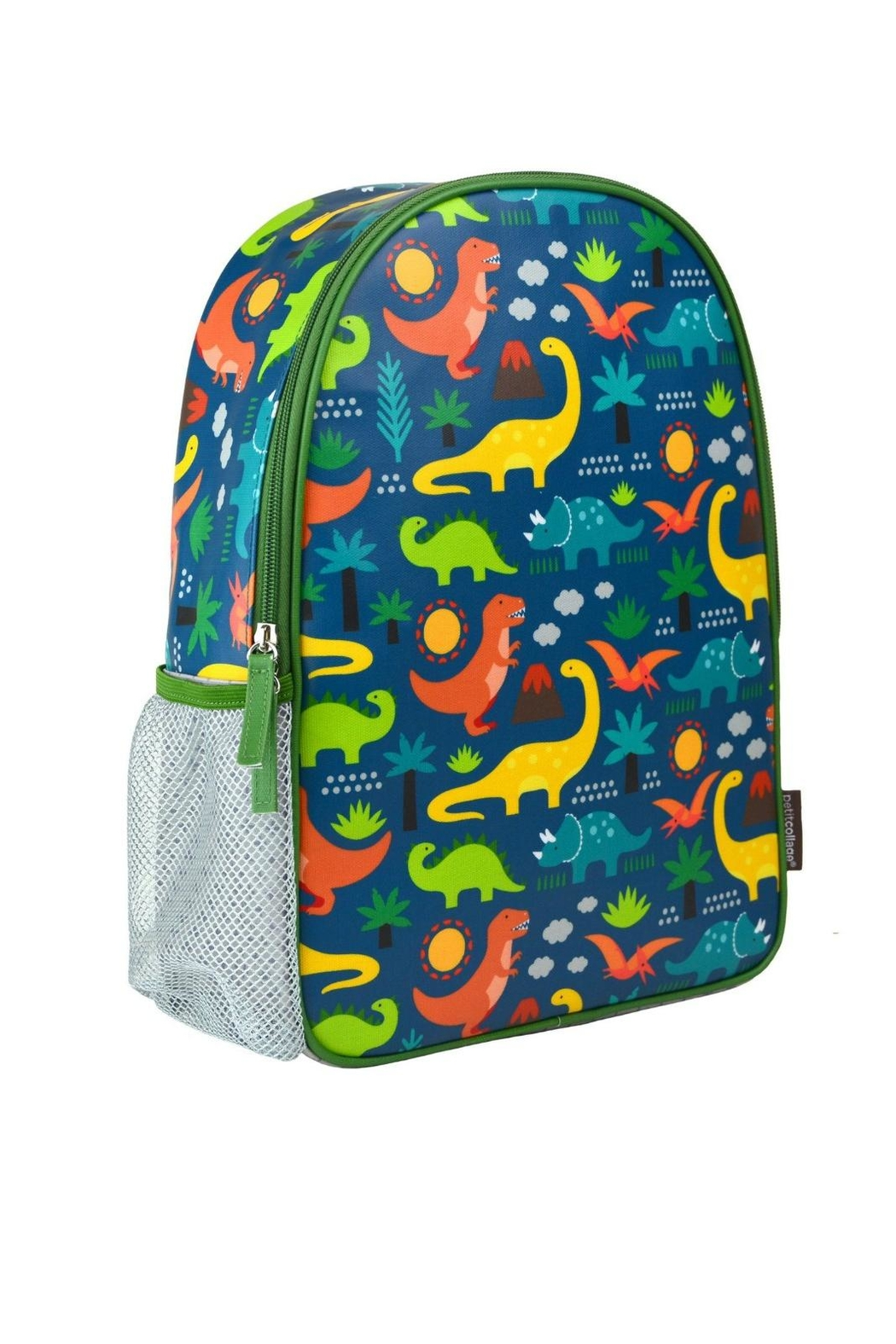 Petit Collage Dinosaur Backpack - Front Cropped Image