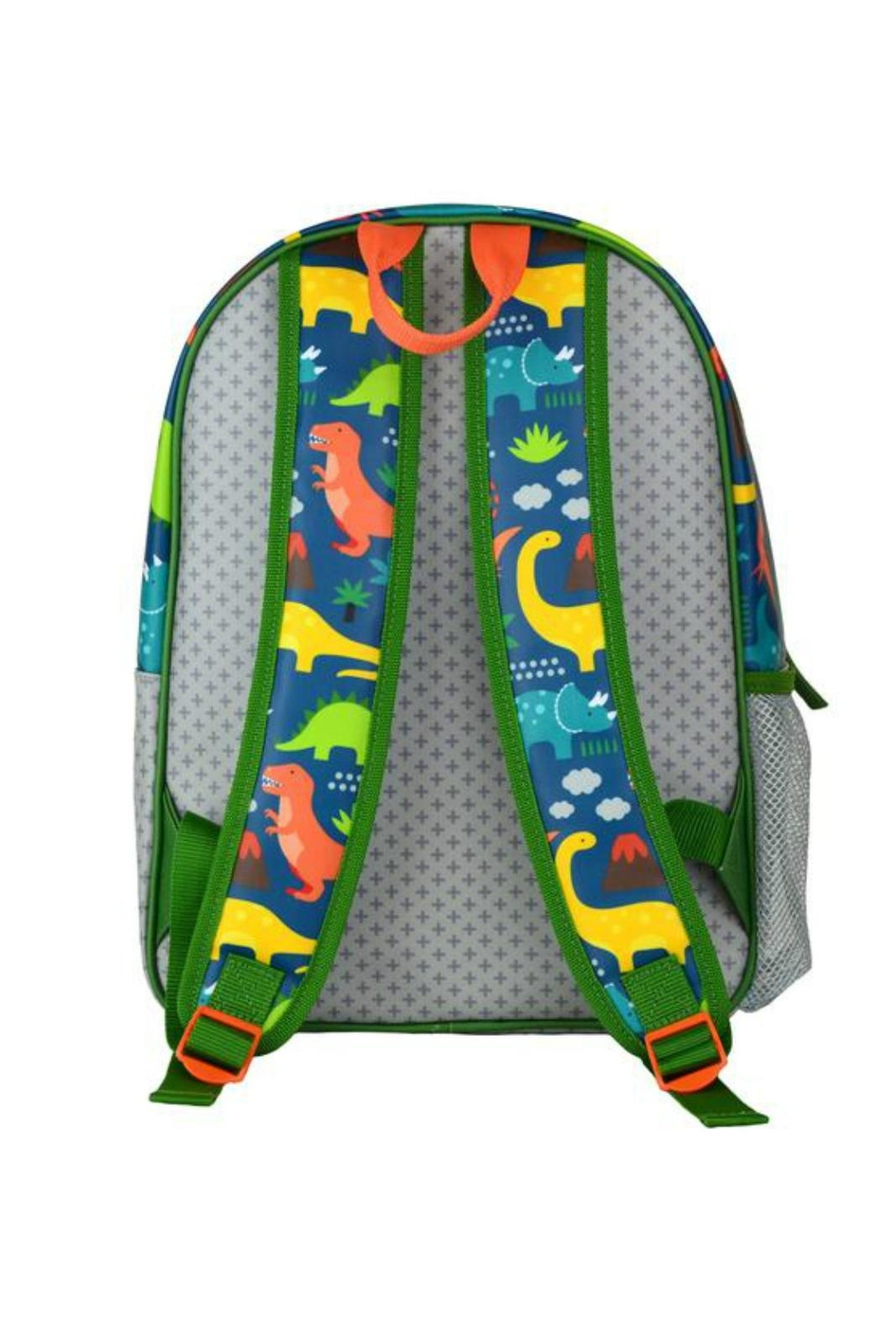 Petit Collage Dinosaur Backpack - Front Full Image