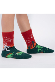 Sock it to me Dinosaur Days Crew Socks - Youth - Front cropped