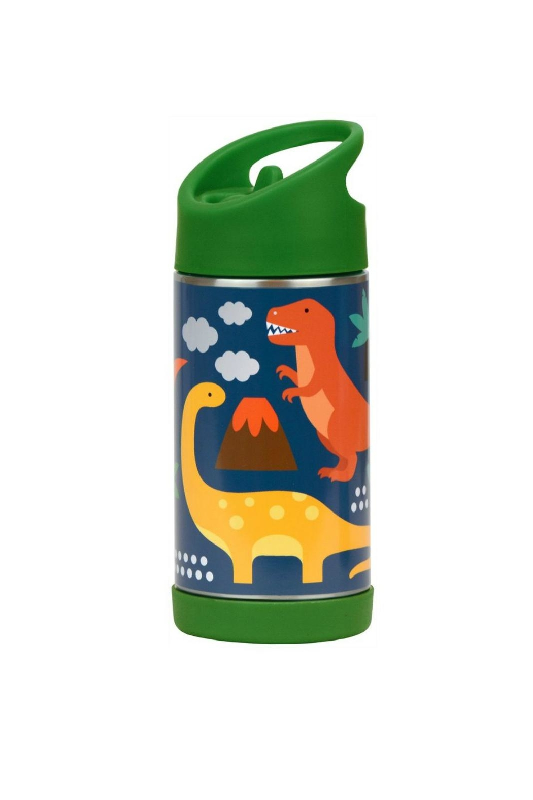 Petit Collage Dinosaur Water Bottle - Front Cropped Image