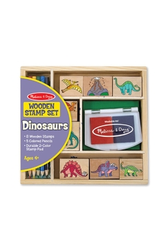 Melissa & Doug Dinosaur Wooden Stamp Set - Alternate List Image
