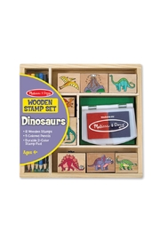 Melissa & Doug Dinosaur Wooden Stamp Set - Product Mini Image