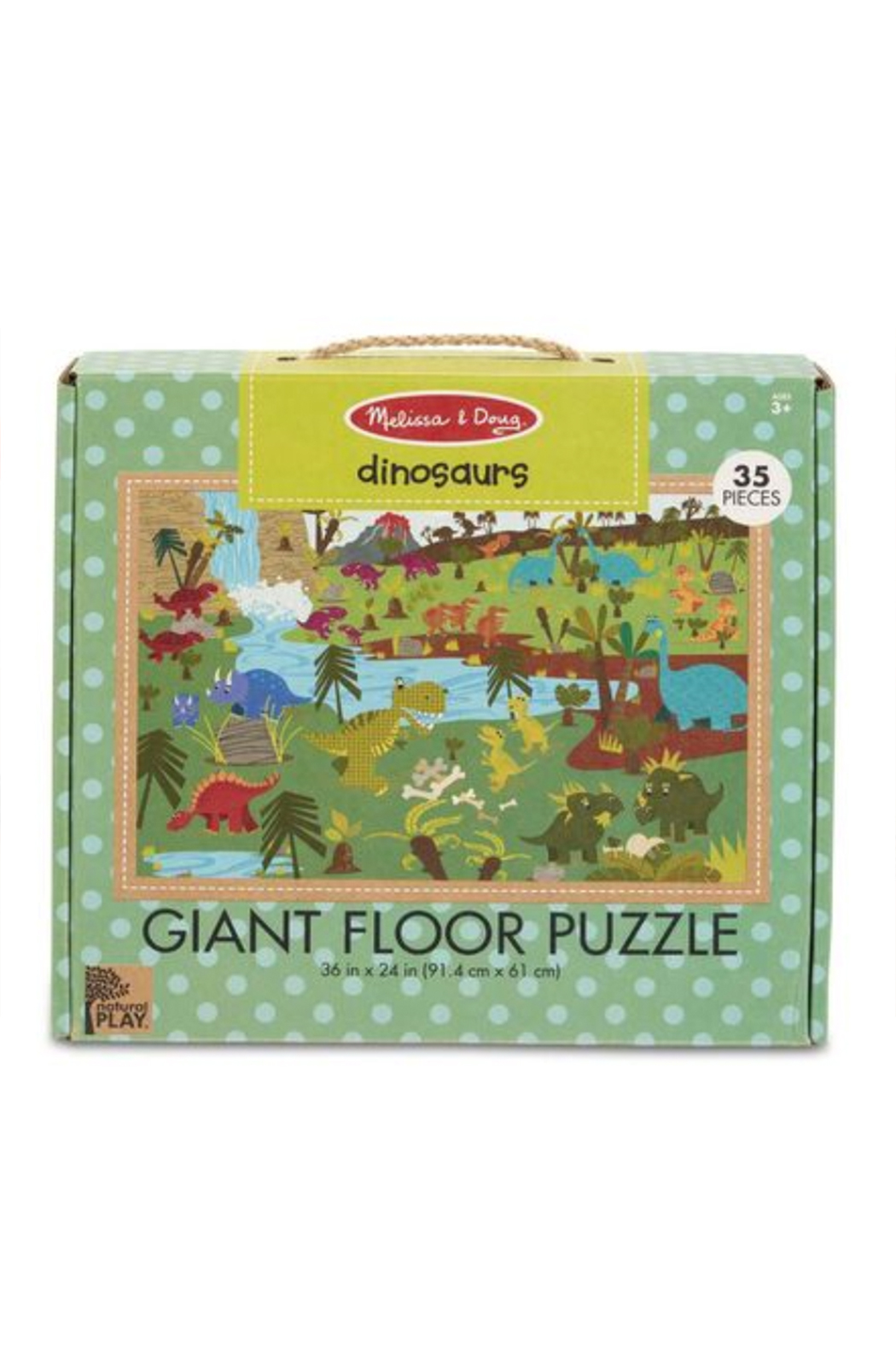 Melissa and Doug Dinosaurs Giant Floor Puzzle - Main Image