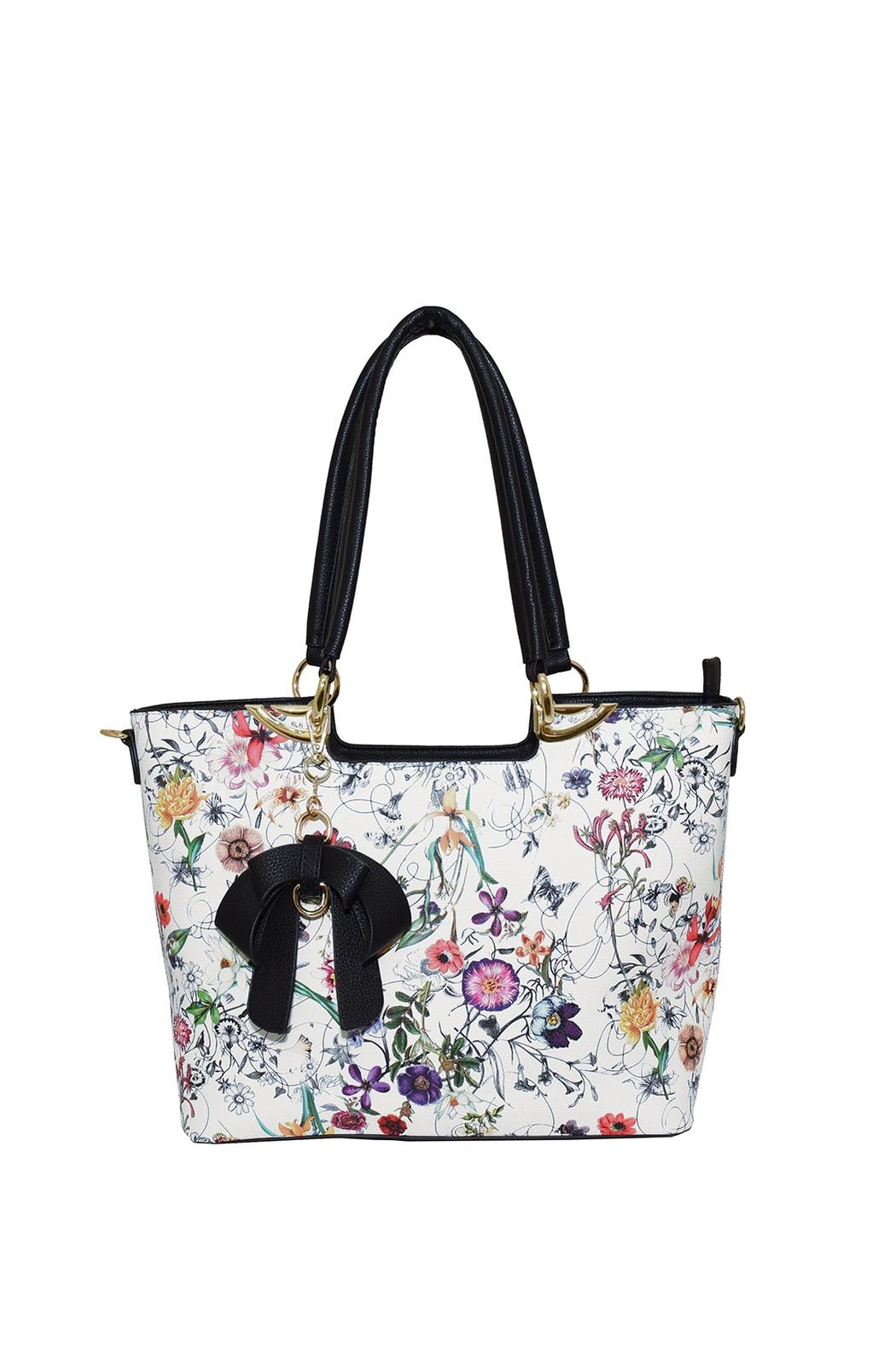 Diophy Floral Bow Tote - Main Image