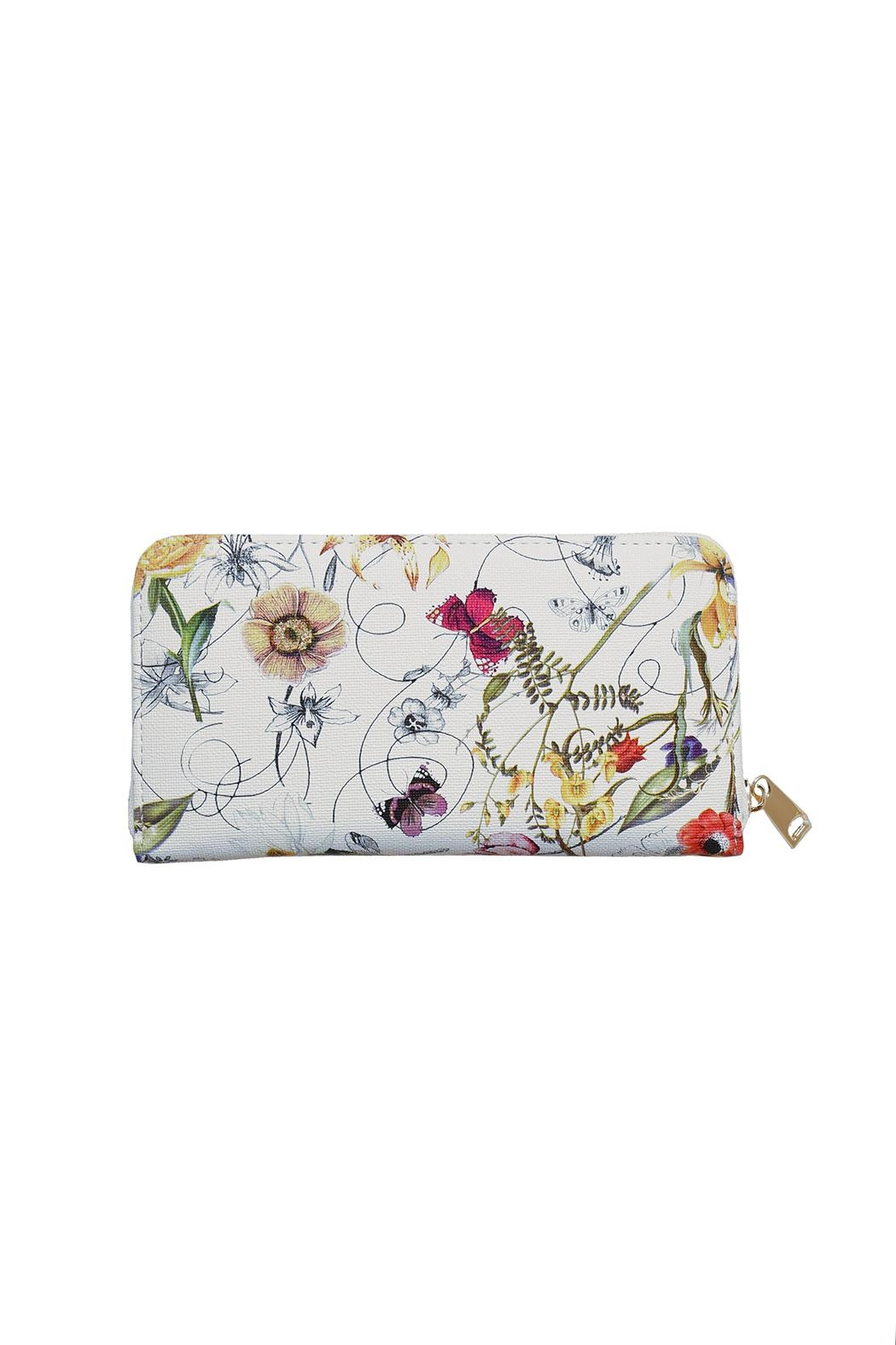 Diophy Floral Zip Wallet - Main Image