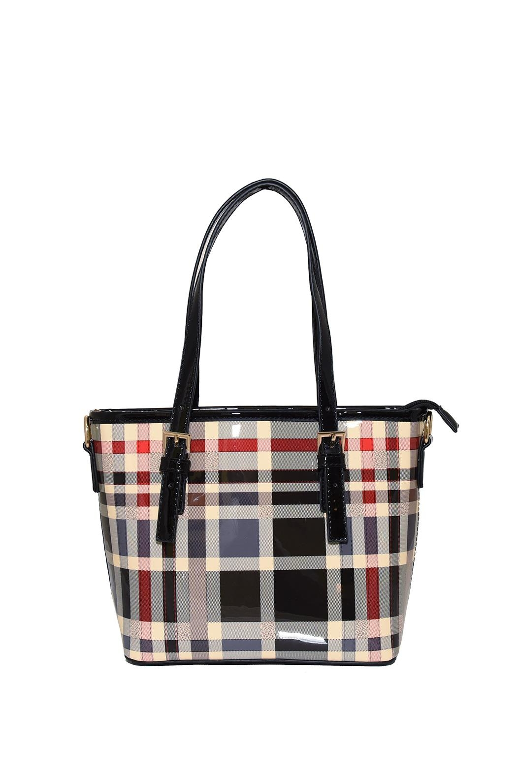 Diophy Plaid Small Tote - Main Image