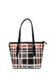 Diophy Plaid Small Tote - Front cropped