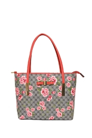 Diophy Small Floral Tote - Front cropped