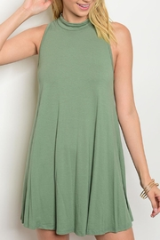 Diosa Olive Mock Dress - Product Mini Image