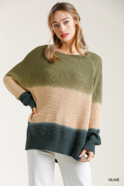 umgee  DIP DIE ROUND NECK SWTR - Front cropped