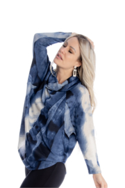 Michael Tyler Collections Dip Dye Cowl Neck Top - Product Mini Image