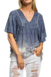 Anama Dip-Dye Paisley Top - Product Mini Image