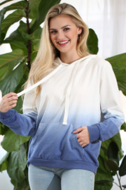 Ninexis Dip Dyed Cotton French Terry Hoodie - Product Mini Image