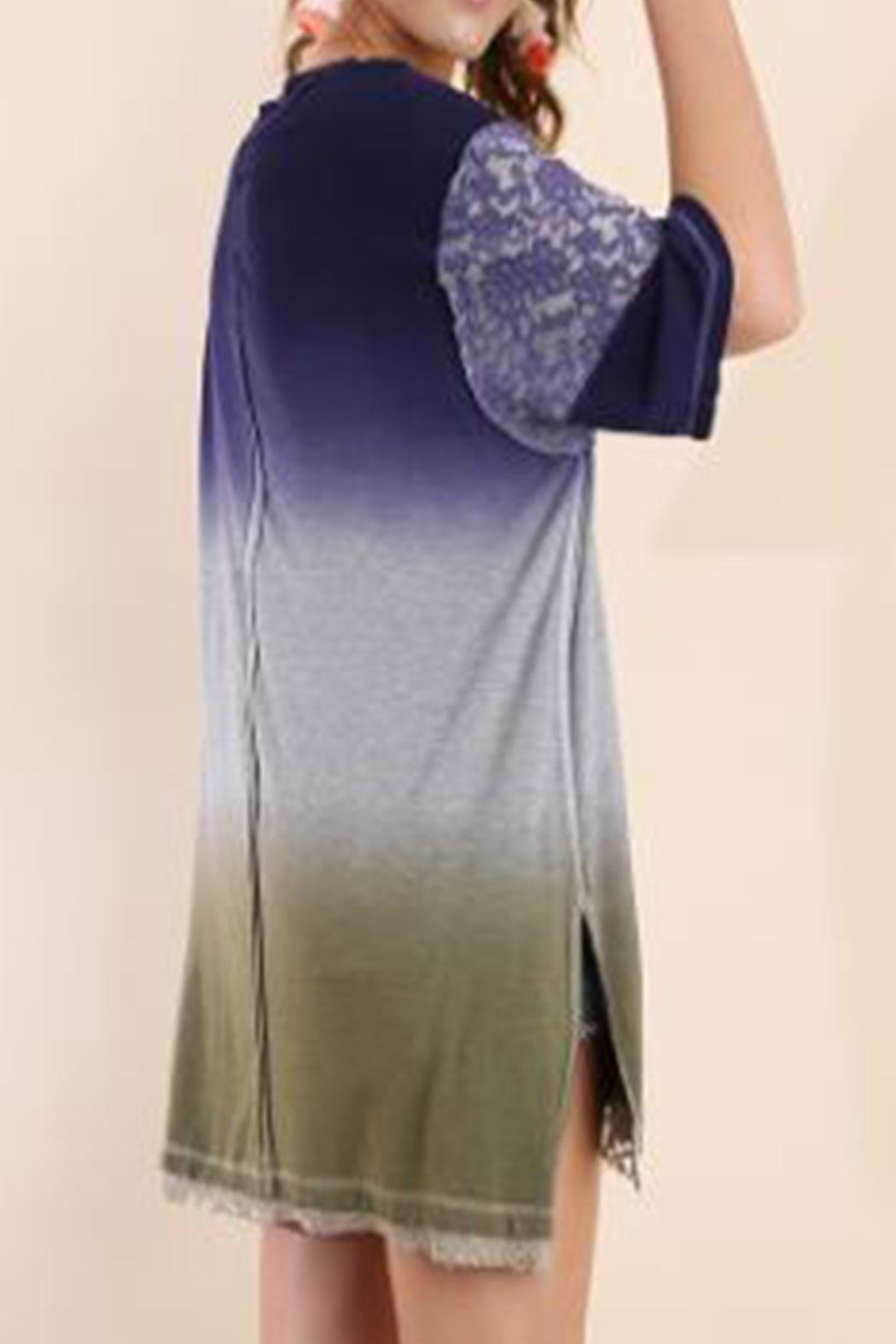 Umgee Dipdye Ombre Tunic - Front Full Image