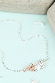 Pink Poodle Boutique Dipped Feather Necklace - Product Mini Image