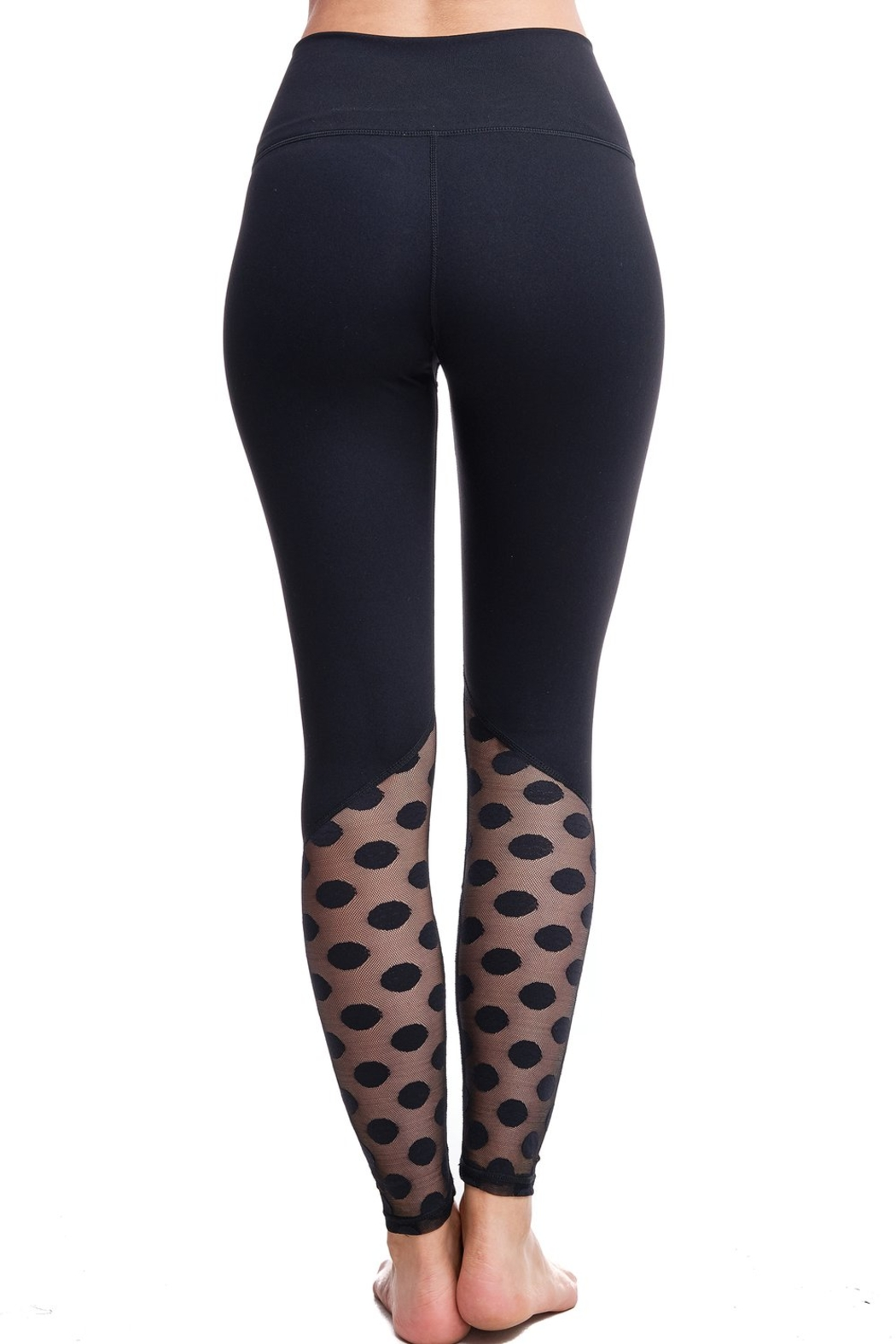 LAsociety Dipped In Dots High Waisted Leggings - Back Cropped Image