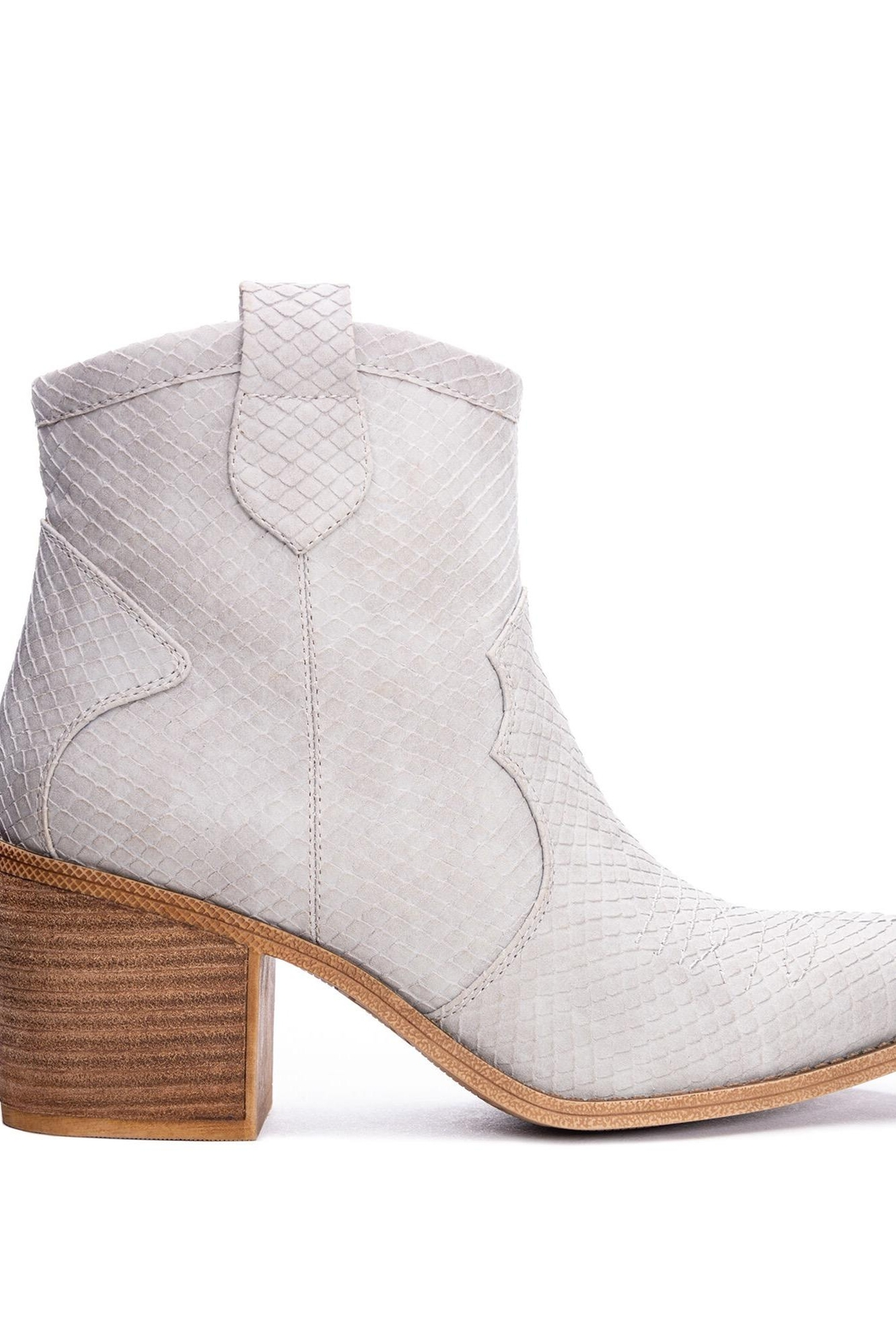 Dirty Laundry Unite Snakeskin Booties - Side Cropped Image
