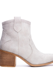 Dirty Laundry Unite Snakeskin Booties - Side cropped