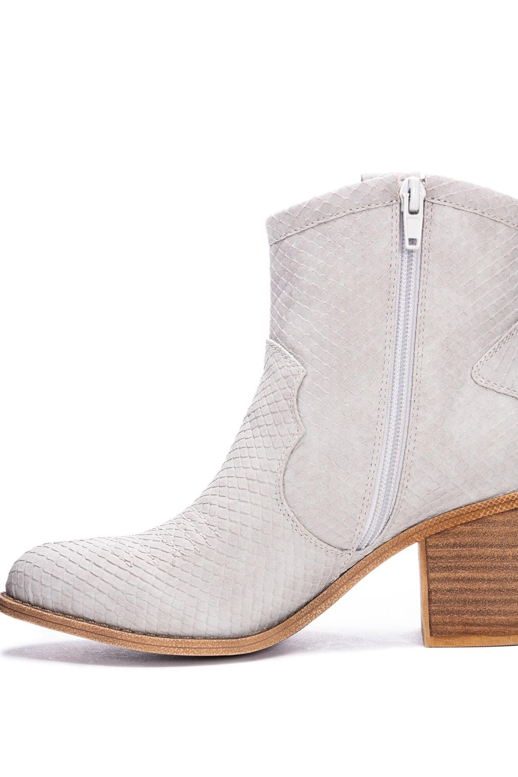 Dirty Laundry Unite Snakeskin Booties - Front Full Image
