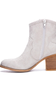 Dirty Laundry Unite Snakeskin Booties - Front full body