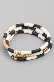 FAME ACCESORIES Disc Bead Bracelet - Product Mini Image