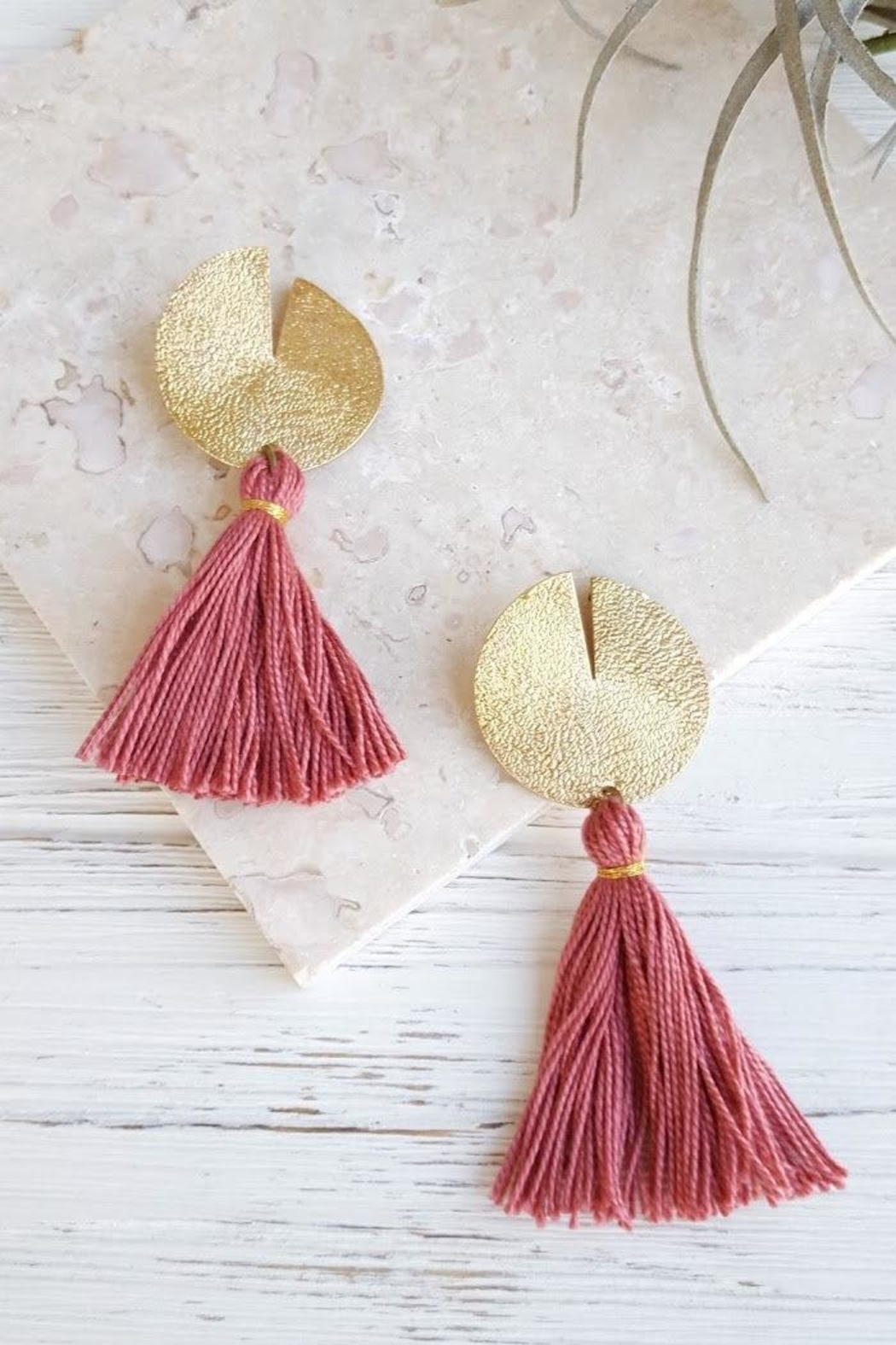 Dynamo Disc-N-Tassel Earrings - Main Image