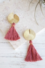 Dynamo Disc-N-Tassel Earrings - Front cropped