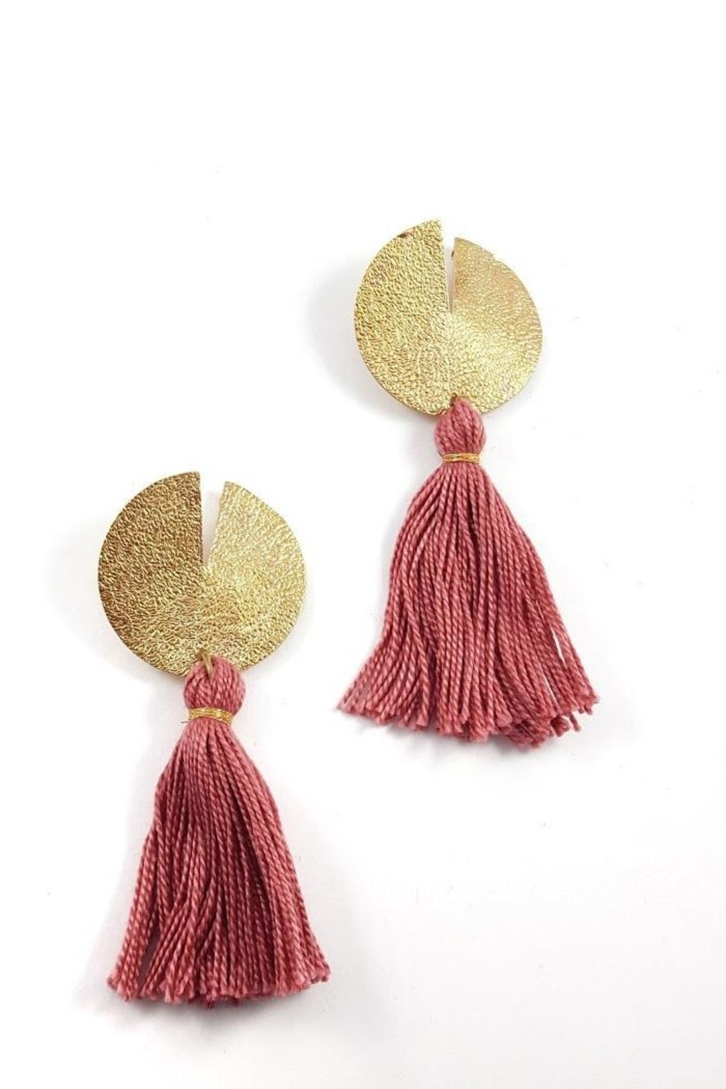 Dynamo Disc-N-Tassel Earrings - Back Cropped Image