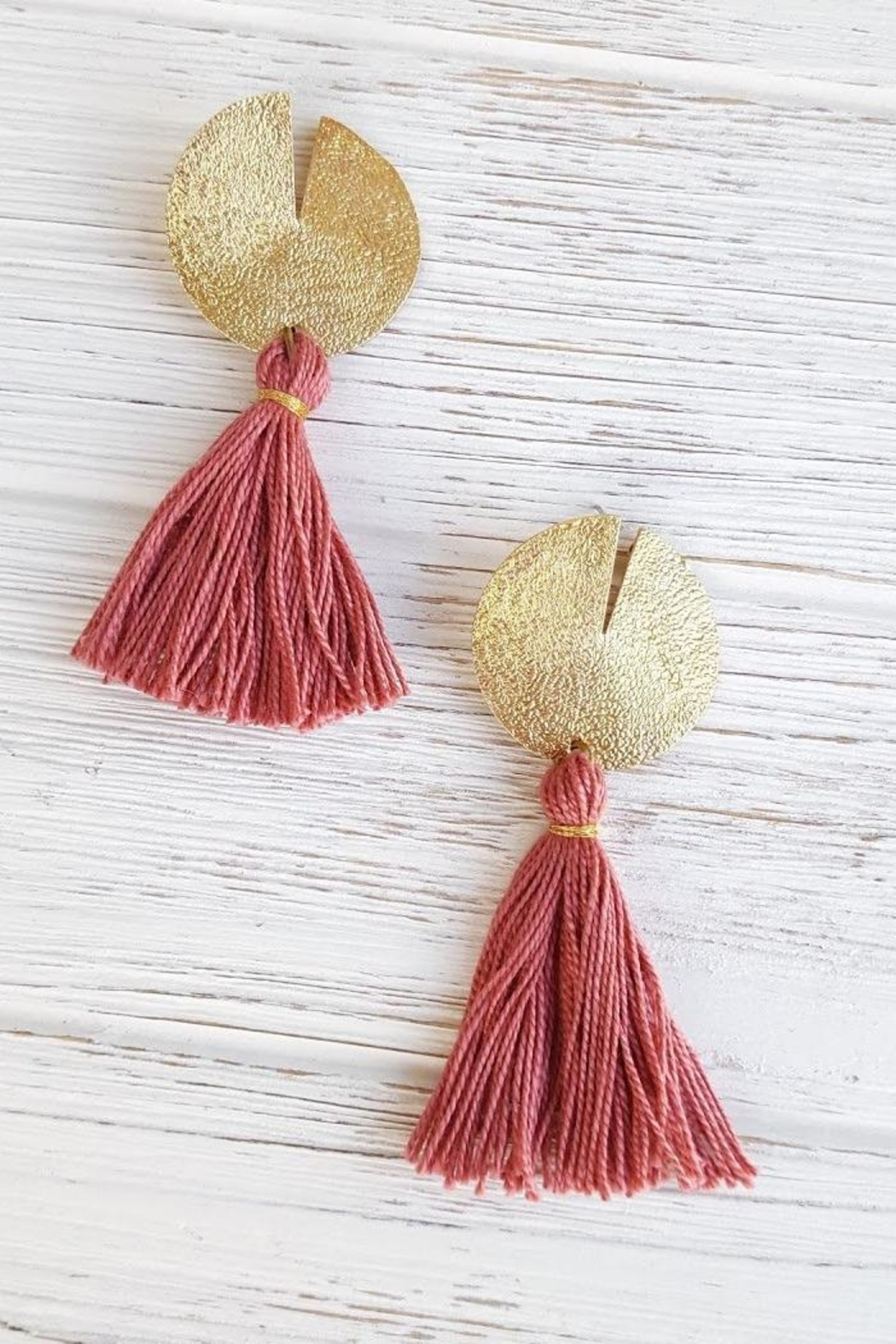 Dynamo Disc-N-Tassel Earrings - Front Full Image