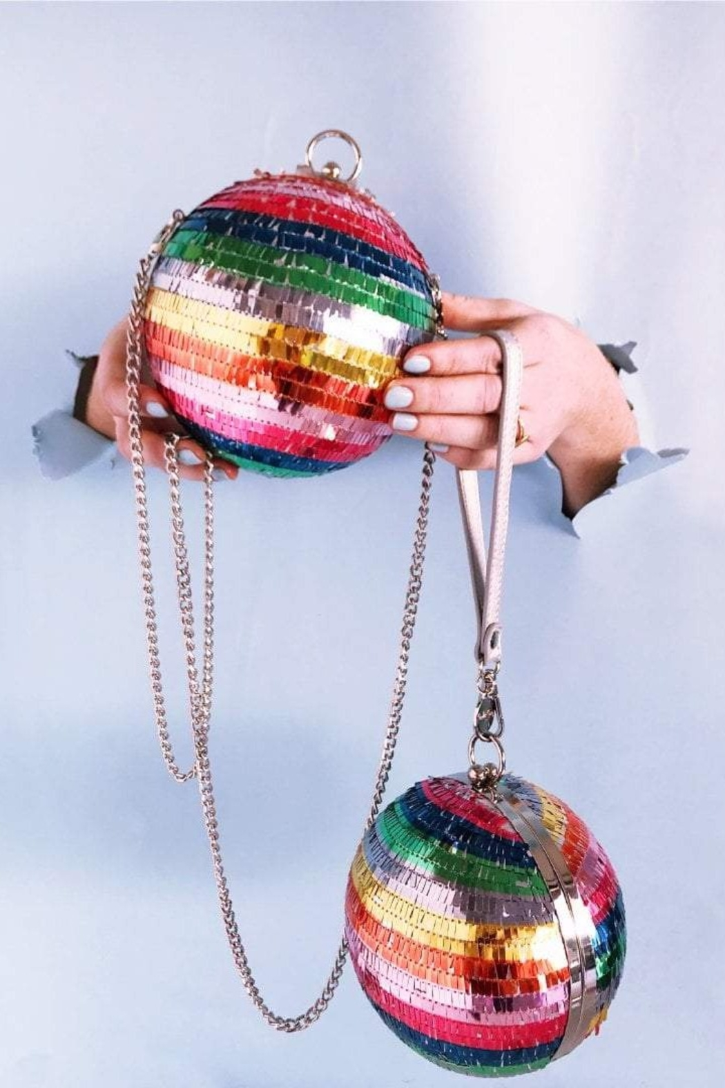 Packed Party Disco Ball Clutch - Back Cropped Image