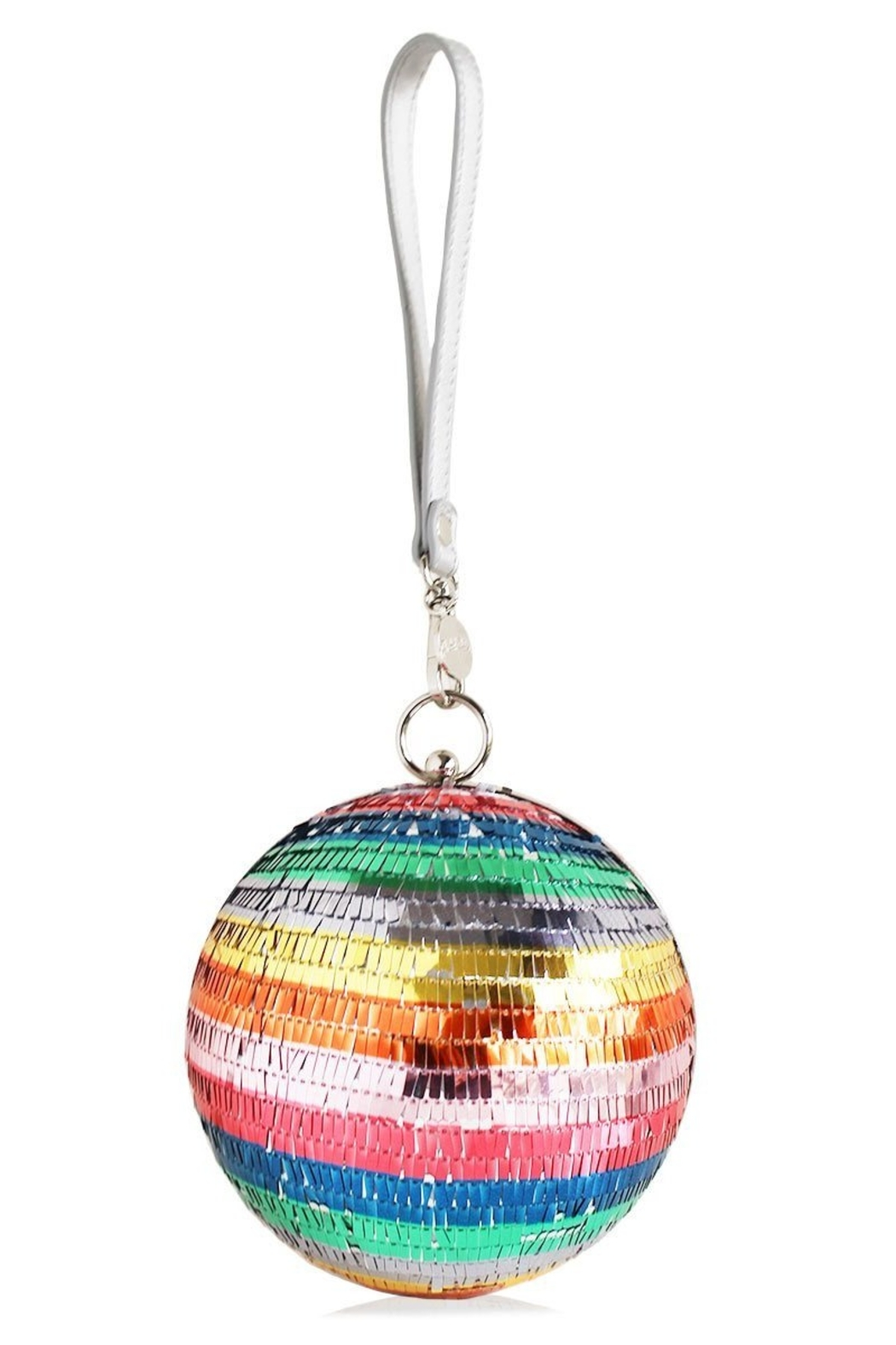 Packed Party Disco Ball Clutch - Front Cropped Image