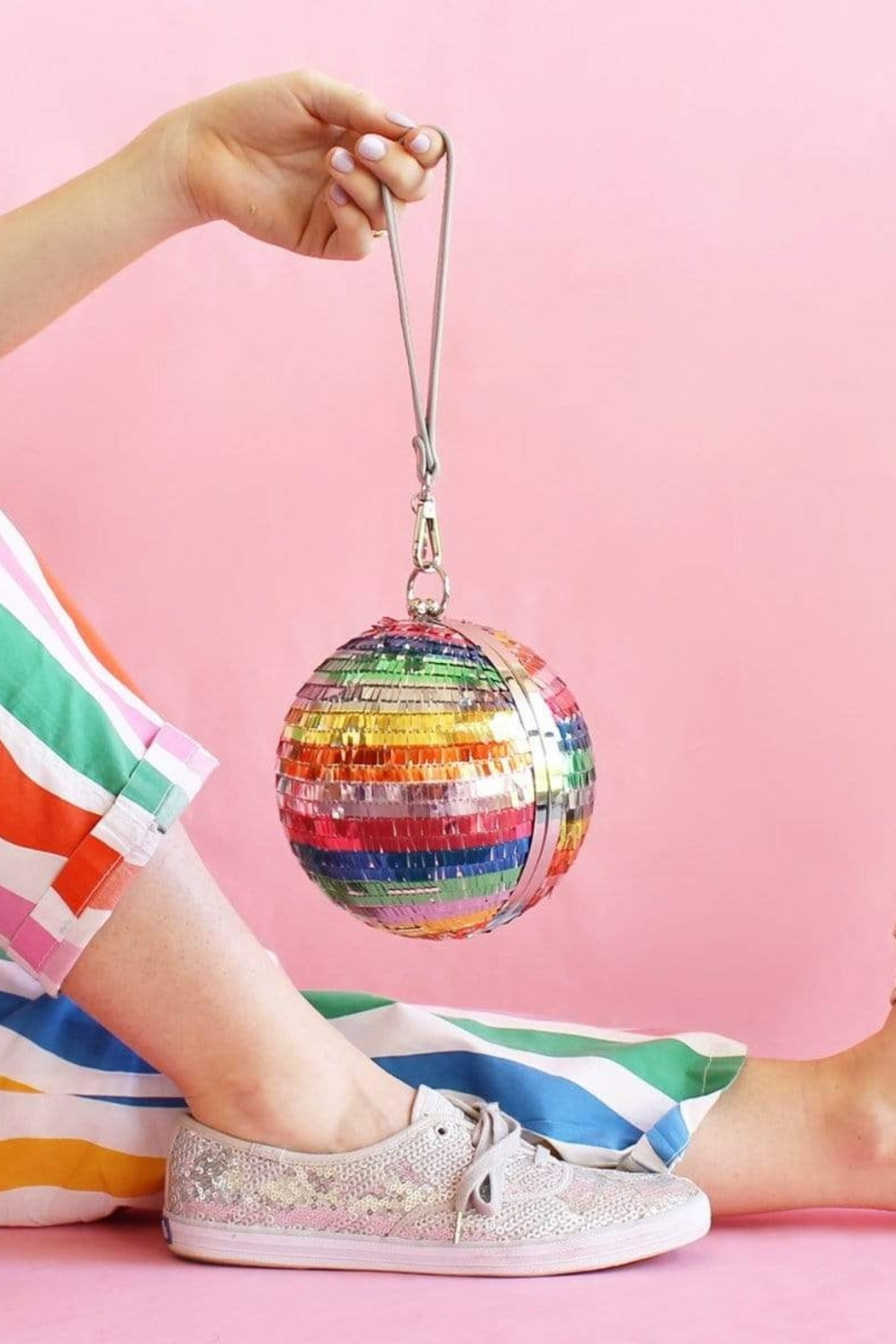 Packed Party Disco Ball Clutch - Front Full Image
