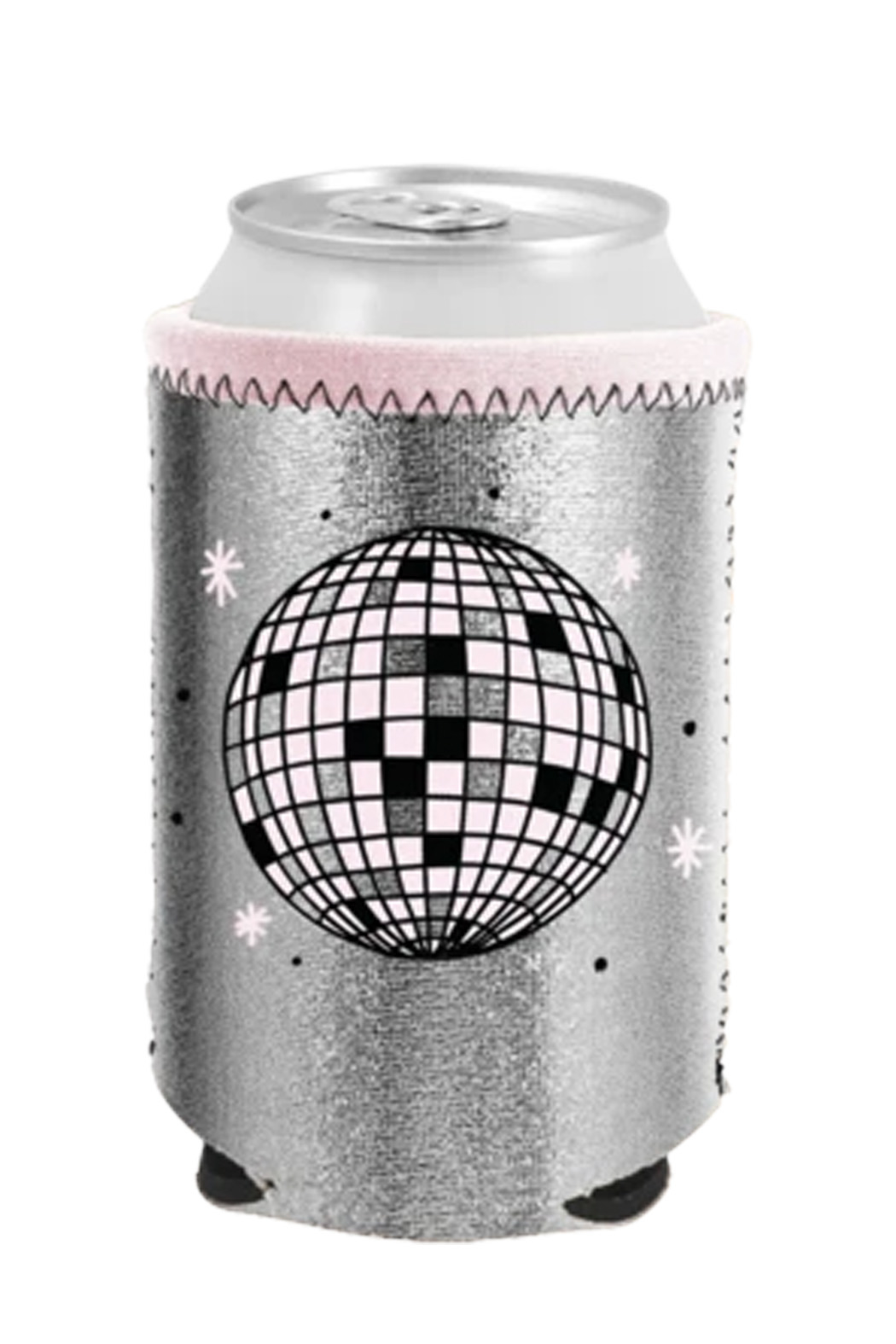 Talking Out Of Turn  Disco Ball Metallic Can Cooler - Main Image