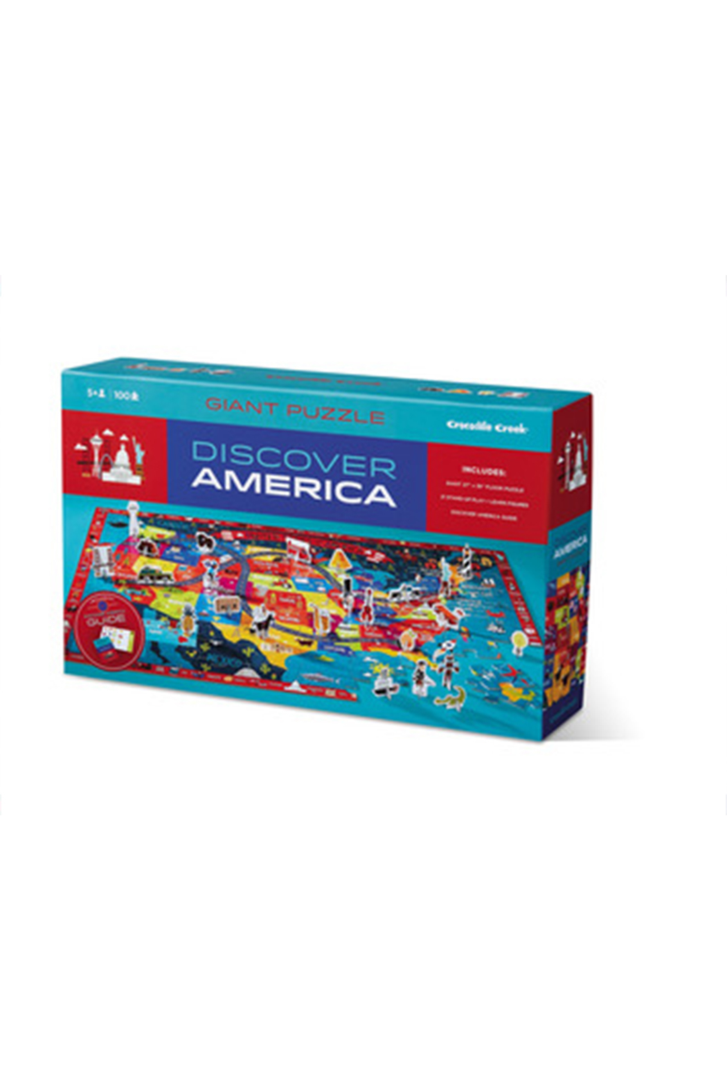 Crocodile Creek Discover America 100 Piece Puzzle - Front Cropped Image