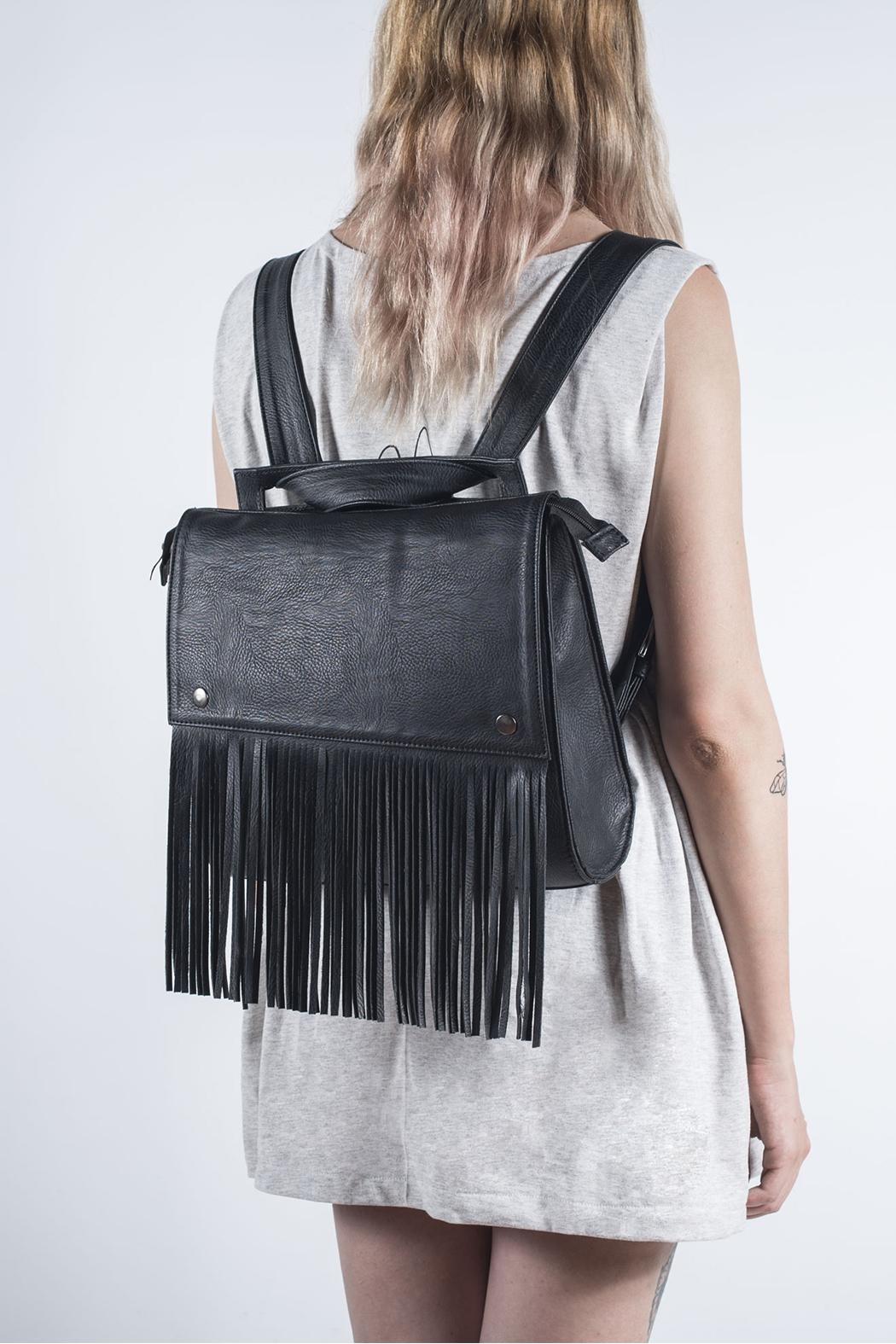 Disenia Black Backpack - Front Cropped Image
