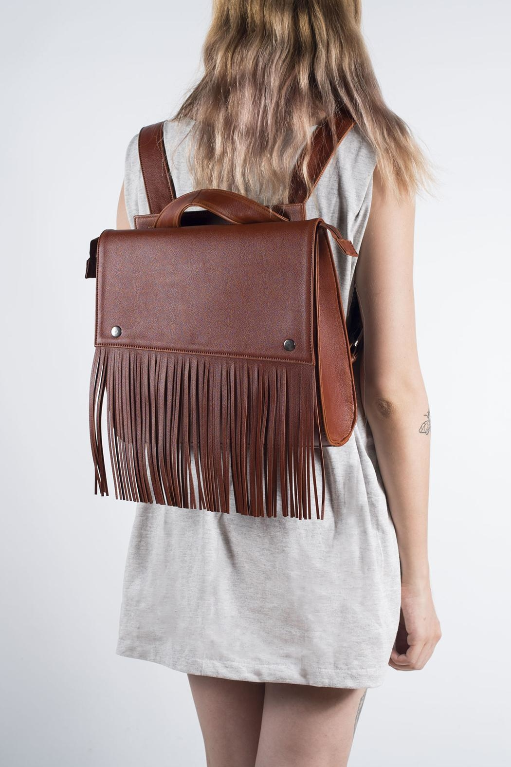 Disenia Brown Backpack - Front Cropped Image